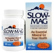 Slow-Mag - Magnesium Chloride with Calcium - 60 Tablets - $12.95