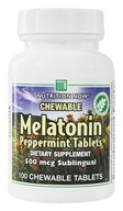 Image of Nutrition Now - Chewable Melatonin Peppermint 500 mcg. - 100 Chewable Tablets
