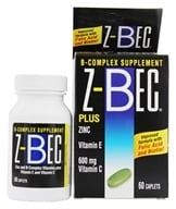 Z-Bec - B-Complex Supplement Plus Zinc - 60 Caplets, from category: Vitamins & Minerals