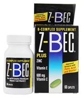 Z-Bec - B-Complex Supplement Plus Zinc - 60 Caplets by Z-Bec