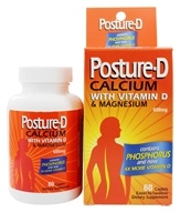 Posture-D - Calcium with Vitamin D & Magnesium 600 mg. - 60 Caplets, from category: Vitamins & Minerals