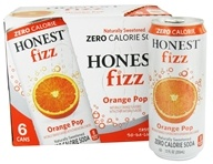 Honest Fizz - Zero Calorie Soda Orange Pop - 6 x 12 oz. Cans