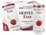 Image of Honest Fizz - Zero Calorie Soda Cherry Flavored Professor Fizz - 6 x 12 oz. Cans