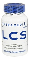 Image of Theramedix - LCS Lactose Digestion Formula - 30 Vegetarian Capsules CLEARANCED PRICED