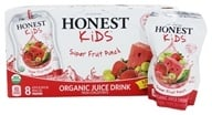 Honest Kids - Organic Juice Drink Super Fruit Punch - 8 x 6.75 Pouches by Honest Kids