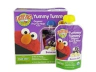 Image of Earth's Best - Yummy Tummy Organic Fruit & Fiber Puree Banana Plum - 4 Pouches