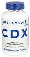 Theramedix - CDX Yeast Management Formula - 84 Vegetarian Capsules - $49.99