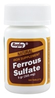 Image of Rugby - Ferrous Sulfate 325 mg. - 100 Tablets