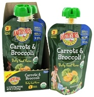 Earth's Best - Baby Food Puree Carrots & Broccoli - 3.5 oz.