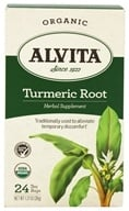 Alvita - Organic Turmeric Root Tea - 24 Tea Bags, from category: Teas