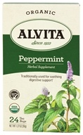 Alvita - Organic Peppermint Tea - 24 Tea Bags by Alvita