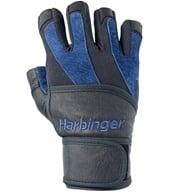 Image of Harbinger - BioFlex Wristwrap Lifting Gloves - Large Black/Blue - 1 Pair