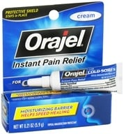 Orajel - Instant Pain Relief Cream For Cold Sores - 0.21 oz. CLEARANCED PRICED