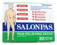 Image of Salonpas - Pain Relieving Patch 2.56 in. x 1.65 in. - 20 Patch(es)