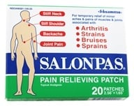 Salonpas - Pain Relieving Patch 2.56 in. x 1.65 in. - 20 Patch(es) (346581100204)