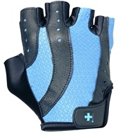 Image of Harbinger - Women's Pro Lifting Gloves - Medium Black/Blue - 1 Pair