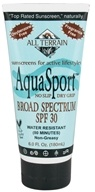 All Terrain - AquaSport Sunscreen Lotion 30 SPF - 6 oz. by All Terrain