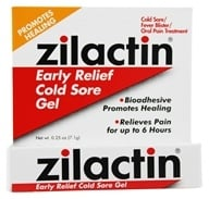 Zilactin - Early Relief Cold Sore Gel - 0.25 oz. (350486468024)