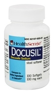 Health Sense - Docusil Docusate Sodium Stool Softener 100 mg. - 100 Softgels