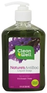 CleanWell - Nature's AntiBac Liquid Soap Lavender - 12 oz. by CleanWell