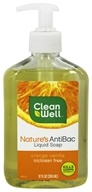 CleanWell - Nature's AntiBac Liquid Soap Orange Vanilla - 12 oz.