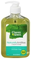 CleanWell - Nature's AntiBac Liquid Soap Peppermint - 12 oz. by CleanWell