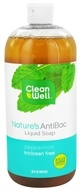 CleanWell - Nature's AntiBac Liquid Soap Peppermint - 32 oz. by CleanWell