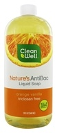 CleanWell - Nature's AntiBac Liquid Soap Orange Vanilla - 32 oz. by CleanWell