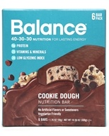 Balance - Nutrition Energy Bar Original Cookie Dough - 6 Bars, from category: Sports Nutrition