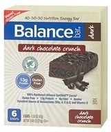 Balance - Nutrition Energy Bar Dark Chocolate Crunch - 6 Bars by Balance