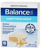 Balance - Nutrition Energy Bar Original Yogurt Honey Peanut - 6 Bars, from category: Sports Nutrition