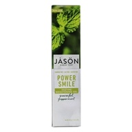 JASON Natural Products - PowerSmile Enzyme Brightening Gel Toothpaste Powerful Peppermint - 4.2 oz.