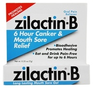 Image of Zilactin - Zilactin-B 6 Hour Canker & Mouth Sore Relief Gel - 0.25 oz.