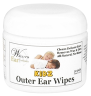 Wally's Natural Products - Kidz Outer Ear Wipes - 50 Pad(s)
