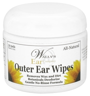 Wally's Natural Products - Outer Ear Wipes - 50 Pad(s) CLEARANCE PRICED - $1.99