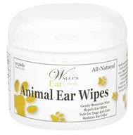 Wally's Natural Products - Animal Ear Wipes - 50 Pad(s) by Wally's Natural Products