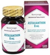 ReserveAge Organics - Advanced Solutions Astaxanthin 8 mg. - 60 Vegetarian Capsules - $31.51