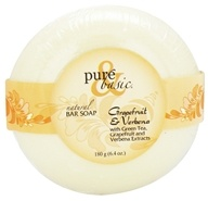 Pure & Basic - Natural Bar Soap Grapefruit & Verbena - 6.4 oz. by Pure & Basic