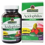 Nature's Answer - Acidophilus and Bifidum - 90 Vegetarian Capsules (083000164521)
