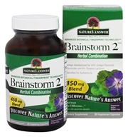 Nature's Answer - Brainstorm2 Mental Clarity Blend - 90 Vegetarian Capsules (083000160233)