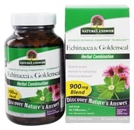 Nature's Answer - Echinacea Herb and Root & Goldenseal Root Herbal Blend - 90 Vegetarian Capsules (083000160622)