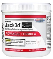 USP Labs - Jack3d Advanced Formula Fruit Punch 45 Servings - 230 Grams, from category: Sports Nutrition