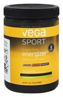 Vega Sport - Natural Plant Based Sugar Free Energizer Lemon Lime - 4.8 oz.