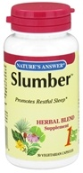 Nature's Answer - Slumber Once Daily Herbal Blend - 50 Vegetarian Capsules