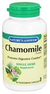 Nature's Answer - Chamomile Flower Single Herb Supplement - 90 Vegetarian Capsules - $4.35