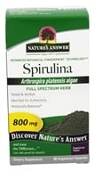 Nature's Answer - Spirulina Single Herb Supplement - 90 Vegetarian Capsules