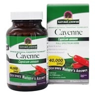 Nature's Answer - Cayenne Pepper Fruit Single Herb Supplement - 90 Vegetarian Capsules, from category: Herbs