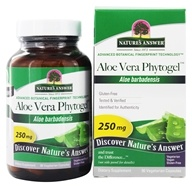 Nature's Answer - Aloe Vera Phytogel Once Daily Single Herb Supplement - 90 Vegetarian Capsules (083000161148)