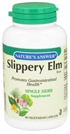 Nature's Answer - Slippery Elm Bark Single Herb Supplement - 90 Vegetarian Capsules - $4.79