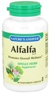 Nature's Answer - Alfalfa Leaf Single Herb Supplement - 90 Vegetarian Capsules, from category: Herbs